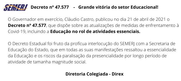 Decreto nº 47.577    –   Grande vitória do setor Educacional